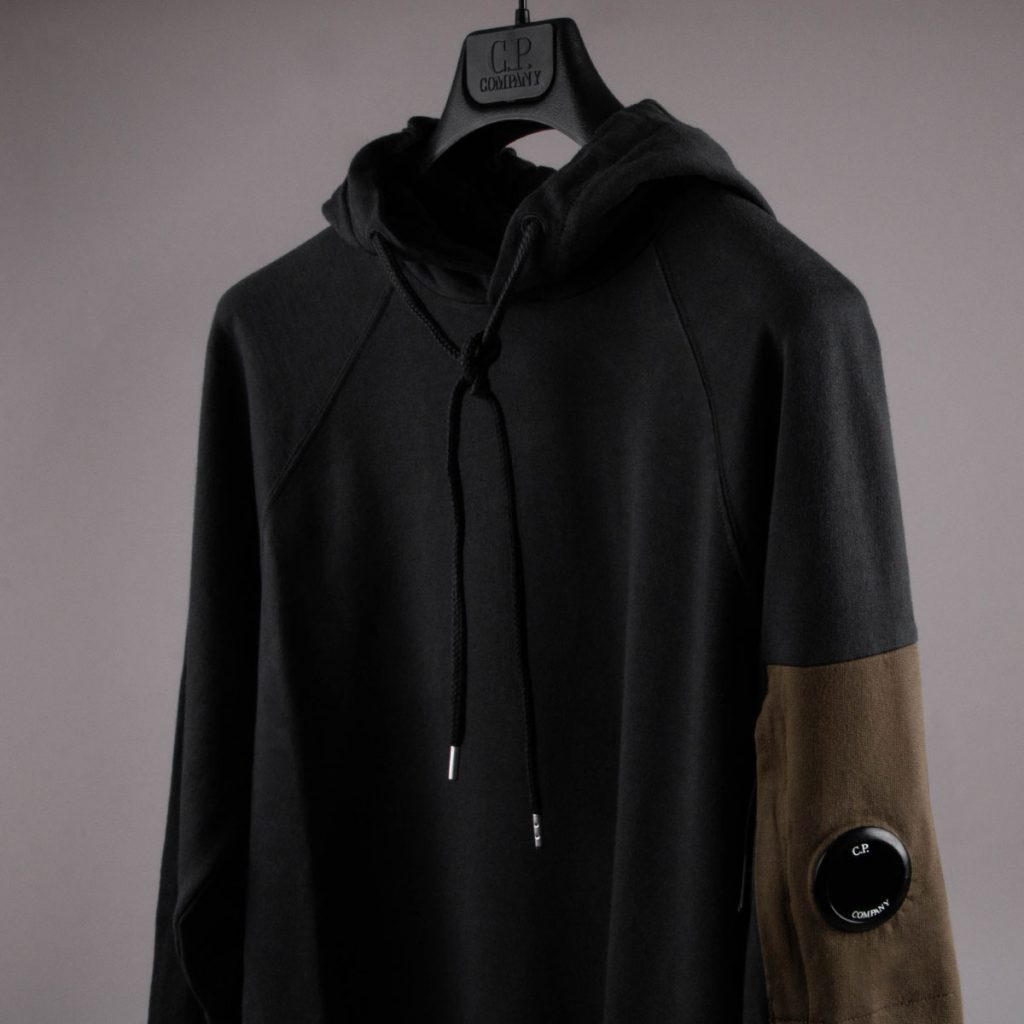 A CP Company hoodie in black